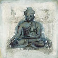 Elvira Amrhein: Hingabe Buddha Zen Fertig-Bild 30x30 Wandbild Feng-Shui Asia