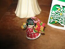 Mary Engelbreit Christmas Collection Ornament Girl with Gift Multicolor Vintage