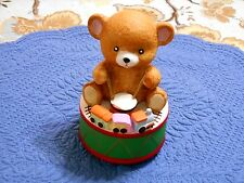 Mann Christmas Revolving Music Box Teddy Bear Drums Train