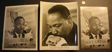 1969-70 Era Civil Rights Leader Dr.Martin Luther King,Jr. Three photo set-Nice!*