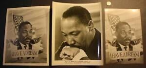 1969-70 Era Civil Rights Leader Dr.Martin Luther King, Jr. THREE photo set-NICE!