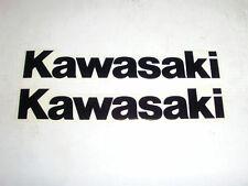 "ADESIVO ""KAWASAKI"" NERO 180 X 30mm --- SET 2 PZ"