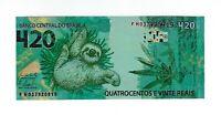 420 Reais Brasilien Phantasie Banknote - 4/20 Fantasy 4:20 Faultier Brazil Sloth