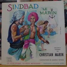 "SINBAD LE MARIN CHRISTIAN MARIN  FRENCH LP 10"" DISQUES ADES LE PETIT MENESTREL"