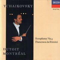Tchaikovsky: Symphony no 4, Francesca da Rimini Dutoit (CD) Free USA Shipping