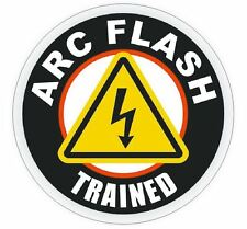 Arc Flash Trained Hard Hat Decal Hard Hat Sticker Helmet Safety Label H14