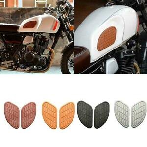 Vintage Classic Style Tall Gas Tank Knee Pads Side Panels Tool Motorcycle H8U2