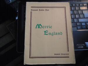 1950 Tunbridge Wells Amateur Operatic Dramatic Soc Merrie England Edgward German