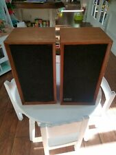 Vintage Altec Lansing 887A Capri Speakers Cabinets  Audiophile Walnut Monitors