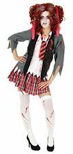 Foxxeo 40079 - colegiala Disfraz sangriento de colegiala zombi, (medium)