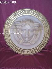 Relief Wandrelief Bild Wandbild Medusa Büste Figur 2657 / Material : Stuckgips
