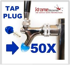 BEER FAUCET BRUSH PLUG 50X BLUE HYGIENE TAP CAP TO KEEP YOUR TAPS KLEEN BUG FREE