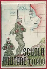 1941 Scuola Militare Milano - cartolina viaggiata