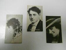 1920's Silent Movie Star Cards JACKIE SAUNDERS Warren Kerrigan & Unknown Set 8
