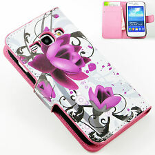 Holster Flip Leather Wallet Flower Case Cover For Samsung Galaxy Ace 3 S7272