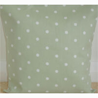 "NEW 16"" Cushion Cover Sage Green Polka Dots Spots Shabby Chic Dotty Spots"