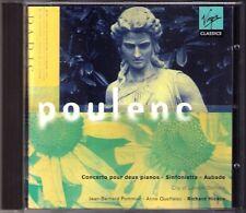 Poulenc Concerto for 2 piano sinfonietta AUBADE pommier queffeler Hickox CD