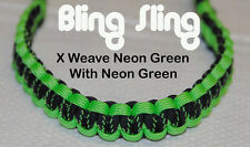 Archery Neon Green X Paracord Bow wrist Bling Sling strap FREE SHIPPING