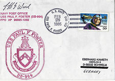 28 février 1995 USS Paul F Foster DD 964 US Destroyer cached cover