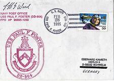 28 FEBBRAIO 1995 USS Paul F FOSTER DD 964 Cacciatorpediniere statunitensi Copertura inseriti nella cache