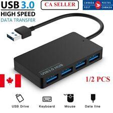1/2PCS 3.0 USB Multi Port Splitter High Speed 5Gbps 4 Port USB HUB Cable Adapter