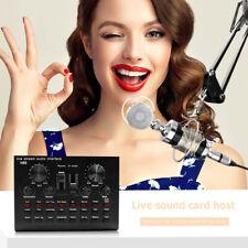 V8S Bluetooth Audio Broadcast Headset Microphone Webcast Live Sound Card