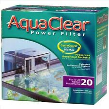 AquaClear 20 Hang on The Back Filter with MEDIA,FOAM,CARBON Complete package