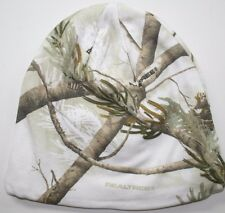 real tree white snow camo beanie hunting cap hat stocking lined realtree tabogan