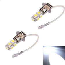 2 x H3 12V 9 SMD LED Pure White Fog Light Car Front Head Light Globes Bulb