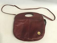 Diva Italy vintage sac en cuir 60er 70er ans bordeaux rouge Boho Miller Moss