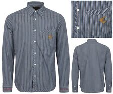 NWT VIVIENNE WESTWOOD ANGLOMANIA BLUE STRIPED SLIM FIT CLASSIC SHIRT. LARGE