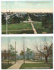 6 Vintage Post Cards postcards 1907-1910 Toronto Canada