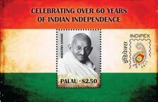 Palau- Indian Independence 60th Anniversary Indipex Gandhi Souvenir Sheet MNH