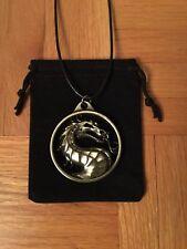 Mortal Kombat Emblem/Logo Bronze Necklace/Pendant  2-Sided
