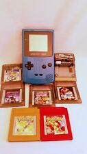 Nintendo Vintage CGB001 Game Boy Color Teal 7 Games Pokemon Red Gold Mario more
