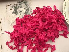 2 Metre of Aged American Seam Binding Ribbon (Cherise Pink)