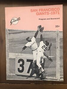 1971 San Francisco Giants Houston Astros Baseball Program Scorecard Candlestick