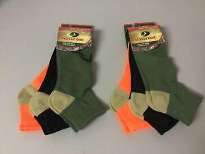 NWT Men's Mossy Oak Low Cut Ankle Socks Size Large 6 Pair Multi #690Z