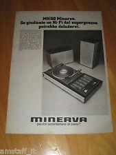 MINERVA MK50 GIRADISCHI HI-FI STEREO=ANNO 1974=PUBBLICITA=ADVERTISING=