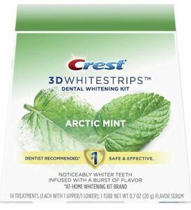Crest 3D Whitestrips  Dental Whitening Kit Arctic Mint 14 Treatments Exp 08/2021