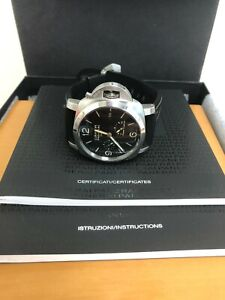 Panerai Luminor 1950 Black Automatic Men's Watch Black Leather PAM00321 44mm