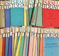 ISRAEL TODAY - 1958-1971 - A collection of 38 booklets, rare!