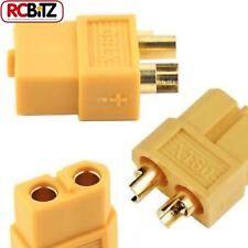 XT60 Heavy Duty Gold Connectors - Male  (4 Pieces) HCAQ7023 Yellow Hobbico RC