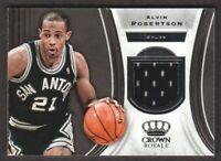 2018-19 Crown Royale Basketball JERSEY #J-AR Alvin Robertson