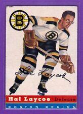 1954-55 TOPPS VINTAGE HOCKEY CARD#38 HAL LAYCOE (BOSTON BRUINS)   (EX/EX+)