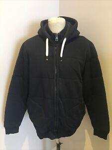Mens Next Fleece Jacket Size XL Navy Blue Hood  Casual Active Fleece Jacket