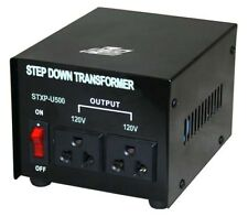 500W 240V to 120V Step Down Transformer USA to Australian Voltage Converter