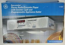 GE SpaceMaker Radio Cassette Player 7-4287 AC 120V Input Tested Under Cabinet