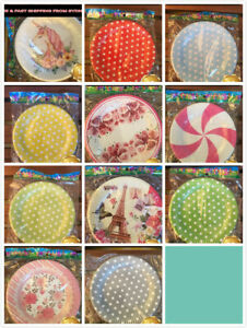 10X 7'' Paper Plate Child Birthday Baby Party Supplies Tableware Dinner BBQ Dish
