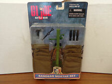 "GI Joe 1/6 12"" Sand Bag Mortar Accessory Set Battle Gear T39"